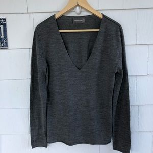 Zadig & Voltaire Grey Wool Bird Sweater Vneck